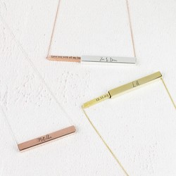 Personalised Secret Message Bar Necklace