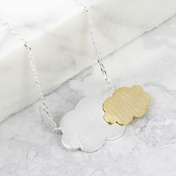 Silver and Gold Cloud Necklace