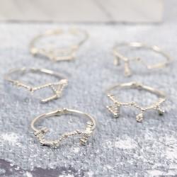 Adjustable Sterling Silver Constellation Ring
