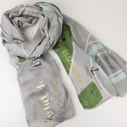 Personalised Illustrated London Map Scarf