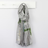 Illustrated London Map Scarf