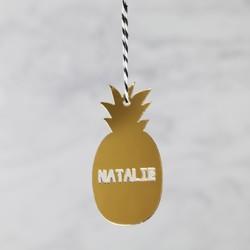 Personalised Acrylic Pineapple Hanging Decoration