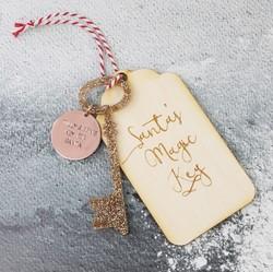 Personalised 'Santa's Magic Key' Hanging Decoration