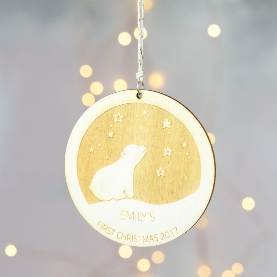 Baby 39 s first christmas hanging decoration lisa angel for Babys first christmas decoration
