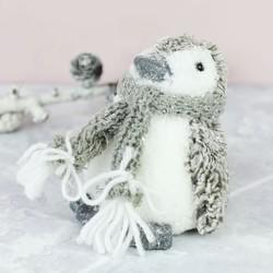 Frosted Glitter Penguin Ornament