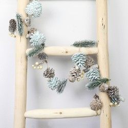 Frosted Glitter Pinecone Garland