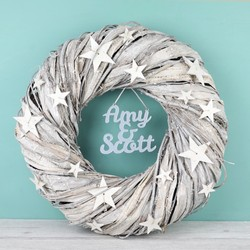 Personalised Sparkly Twiggy Star Wreath
