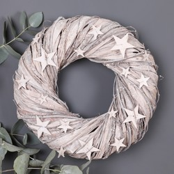 Sparkly Twiggy Star Wreath