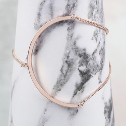 Rose Gold Open Circle Chain Bracelet