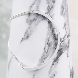 Silver Open Circle Chain Bracelet