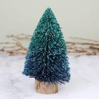 Ombre Bristle Tree Decoration in Blue