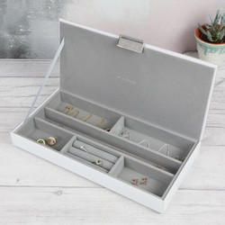Stackers Glass Jewellery Box Lid in White