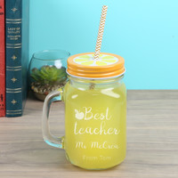 Personalised Engraved 'Best Teacher' Mason Jar