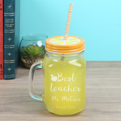 Personalised Engraved 'Best Teacher' Mason Jar