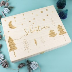 Personalised Name Christmas Eve Gift Box