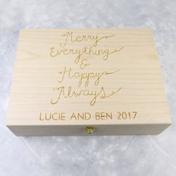 Personalised 'Merry Everything' Christmas Box