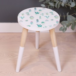 Small Botanical Cactus Side Table