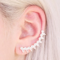 Crystal Ear Cuff and Stud Earrings
