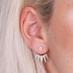 Gothic Crystal Ear Jacket Earrings