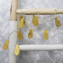 Gold Pineapple LED String Lights
