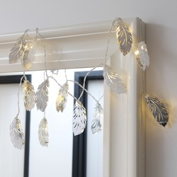 Silver Feather LED String Lights