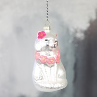 Pink Flower Lei Cat Bauble