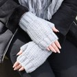 Ladies' Hand Warmers on Model