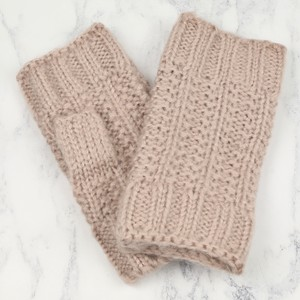 Knitted Hand Warmers in Dusky Pink