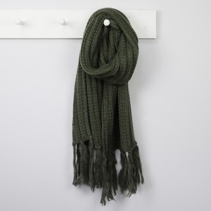 Acrylic Knit Scarf in Khaki
