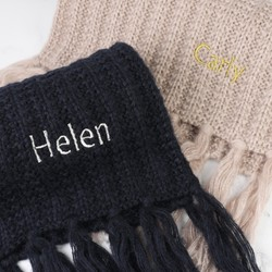 Personalised Knitted Scarf with Tassels