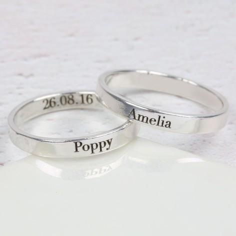 Engraved Rings For Grandma