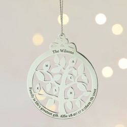 Personalised Christmas Baubles  Decorations  Lisa Angel UK