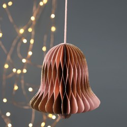 Bell Honeycomb Paper Decoration in Pink