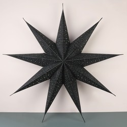 Glitter Paper Star Lantern in Black