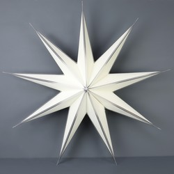 Large Paper Star Decoration in White