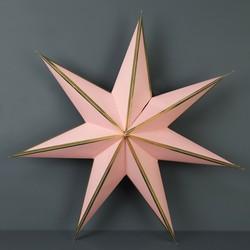 Medium Paper Star Decoration in Pink