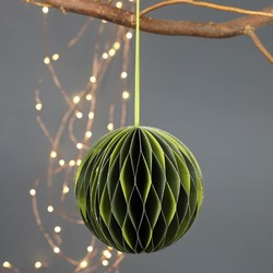 Round Honeycomb Paper Decoration in Green