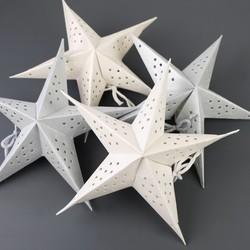 Set of 8 Mini Paper Star Decorations