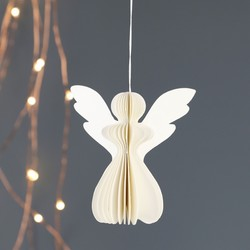 Small Angel Honeycomb Paper Decoration in Cream
