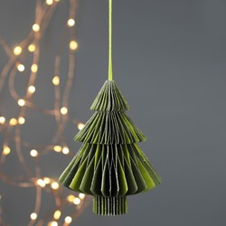 Tree Honeycomb Paper Decoration in Green