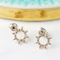 Orelia Open Sun Crystal Stud Earrings
