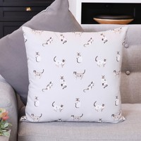 Illustrated Cats Cotton Cushion