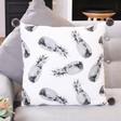 Lisa Angel Monochrome Pineapple Print Pom Pom Cotton Cushion