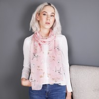 Watercolour Dogs Silk Skinny Scarf