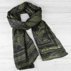 Personalised Botanical Aztec Scarf