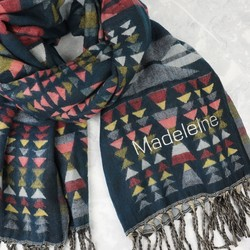 Personalised Multicoloured Aztec Blanket Scarf