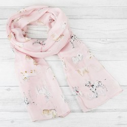Personalised Watercolour Dogs Silk Skinny Scarf