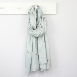 Foil Cats Scarf in Grey
