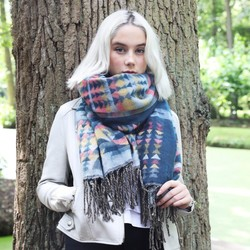 Multicoloured Aztec Blanket Scarf