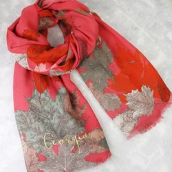 Personalised Powder Design 'Autumn Stag' Print Scarf